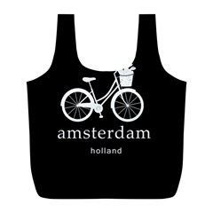 Amsterdam Full Print Recycle Bags (l)  by Valentinaart