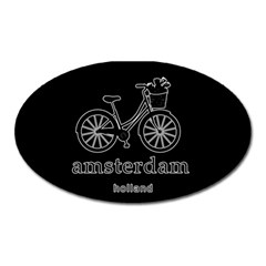 Amsterdam Oval Magnet by Valentinaart
