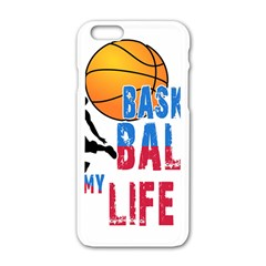 Basketball Is My Life Apple Iphone 6/6s White Enamel Case by Valentinaart