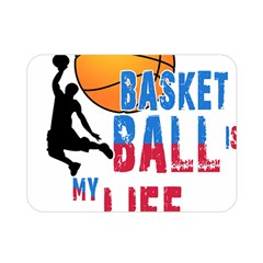 Basketball Is My Life Double Sided Flano Blanket (mini)  by Valentinaart
