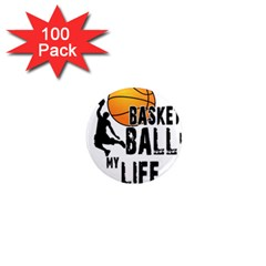 Basketball Is My Life 1  Mini Magnets (100 Pack)  by Valentinaart