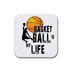 Basketball Is My Life Rubber Coaster (square)  by Valentinaart