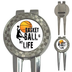 Basketball Is My Life 3 In 1 Golf Divots by Valentinaart