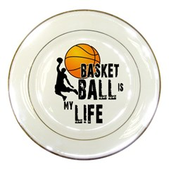 Basketball Is My Life Porcelain Plates by Valentinaart