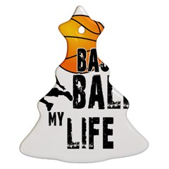 Basketball Is My Life Ornament (christmas Tree)  by Valentinaart