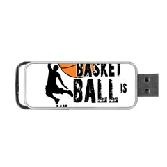 Basketball Is My Life Portable Usb Flash (one Side) by Valentinaart