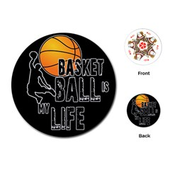 Basketball Is My Life Playing Cards (round)  by Valentinaart