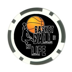 Basketball Is My Life Poker Chip Card Guard by Valentinaart