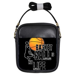 Basketball Is My Life Girls Sling Bags by Valentinaart