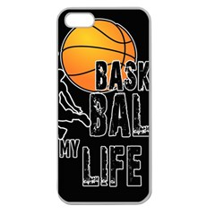 Basketball Is My Life Apple Seamless Iphone 5 Case (clear) by Valentinaart