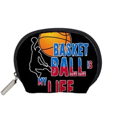 Basketball Is My Life Accessory Pouches (small)  by Valentinaart