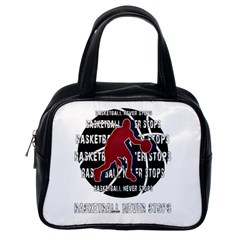 Basketball Never Stops Classic Handbags (one Side) by Valentinaart
