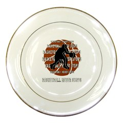 Basketball Never Stops Porcelain Plates by Valentinaart