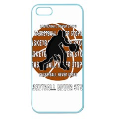 Basketball Never Stops Apple Seamless Iphone 5 Case (color) by Valentinaart