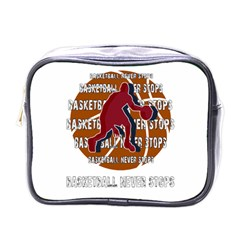 Basketball Never Stops Mini Toiletries Bags by Valentinaart