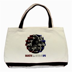 Basketball Never Stops Basic Tote Bag (two Sides) by Valentinaart