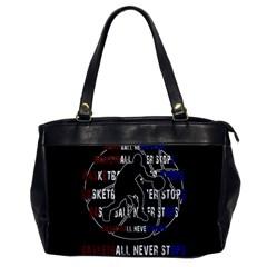 Basketball Never Stops Office Handbags by Valentinaart