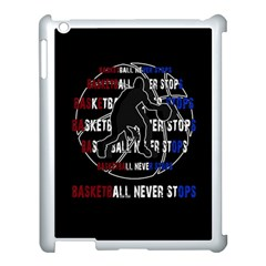 Basketball Never Stops Apple Ipad 3/4 Case (white) by Valentinaart