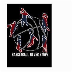 Basketball Never Stops Large Garden Flag (two Sides) by Valentinaart