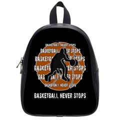 Basketball Never Stops School Bags (small)  by Valentinaart