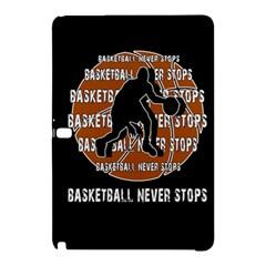 Basketball Never Stops Samsung Galaxy Tab Pro 10 1 Hardshell Case by Valentinaart