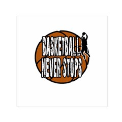 Basketball Never Stops Small Satin Scarf (square) by Valentinaart