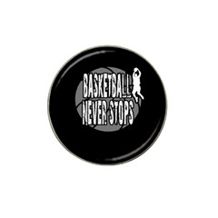 Basketball Never Stops Hat Clip Ball Marker by Valentinaart
