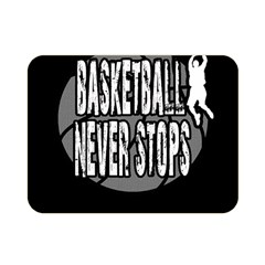 Basketball Never Stops Double Sided Flano Blanket (mini)  by Valentinaart