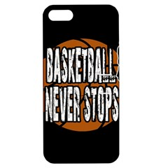 Basketball Never Stops Apple Iphone 5 Hardshell Case With Stand by Valentinaart