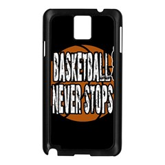 Basketball Never Stops Samsung Galaxy Note 3 N9005 Case (black) by Valentinaart