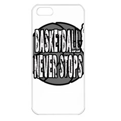 Basketball Never Stops Apple Iphone 5 Seamless Case (white) by Valentinaart