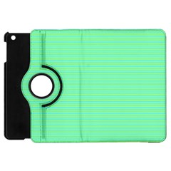 Decorative Lines Pattern Apple Ipad Mini Flip 360 Case by Valentinaart