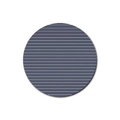 Decorative Lines Pattern Rubber Coaster (round)  by Valentinaart