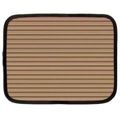 Decorative Lines Pattern Netbook Case (xxl)  by Valentinaart