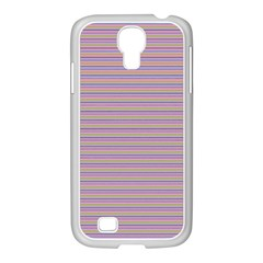 Decorative Lines Pattern Samsung Galaxy S4 I9500/ I9505 Case (white) by Valentinaart