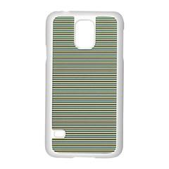 Decorative Lines Pattern Samsung Galaxy S5 Case (white) by Valentinaart