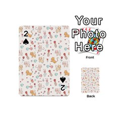 Kittens And Birds And Floral  Patterns Playing Cards 54 (mini)  by TastefulDesigns