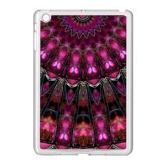 Pink Vortex Half Kaleidoscope  Apple Ipad Mini Case (white) by KirstenStar