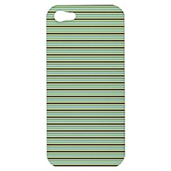 Decorative Lines Pattern Apple Iphone 5 Hardshell Case by Valentinaart