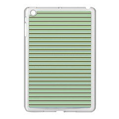 Decorative Lines Pattern Apple Ipad Mini Case (white) by Valentinaart