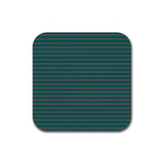 Decorative Lines Pattern Rubber Square Coaster (4 Pack)  by Valentinaart