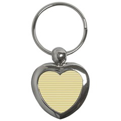 Decorative Lines Pattern Key Chains (heart)  by Valentinaart