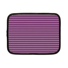Decorative Lines Pattern Netbook Case (small)  by Valentinaart
