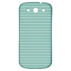 Decorative Line Pattern Samsung Galaxy S3 S Iii Classic Hardshell Back Case by Valentinaart