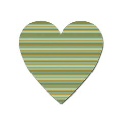Decorative Line Pattern Heart Magnet by Valentinaart