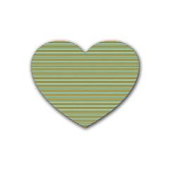 Decorative Line Pattern Rubber Coaster (heart)  by Valentinaart