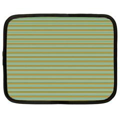 Decorative Line Pattern Netbook Case (large) by Valentinaart