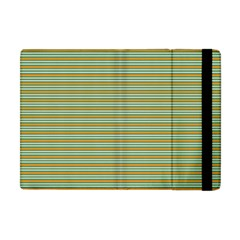 Decorative Line Pattern Apple Ipad Mini Flip Case by Valentinaart