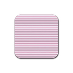 Decorative Line Pattern Rubber Square Coaster (4 Pack)  by Valentinaart