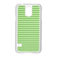 Decorative Line Pattern Samsung Galaxy S5 Case (white) by Valentinaart